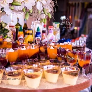 عکاسی از میز دسر هتل آسمان
