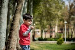 استودیو لحظه نگاری عکاسی کودک در فضای باز