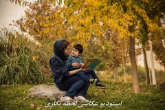 عکاسی از مادر و کودک در پاییز و فضای باز