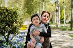 عکس از کودک و مادر