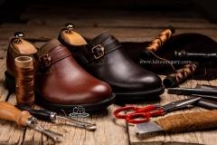 عکاسی تبلیغاتی کفش چرم مردانه -استودیو لحظه نگاری